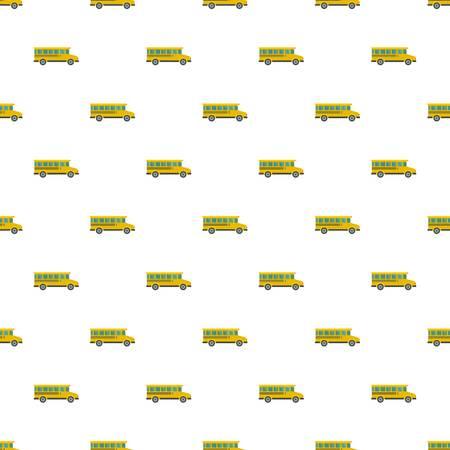 Side view of school bus icon, flat style Ilustração