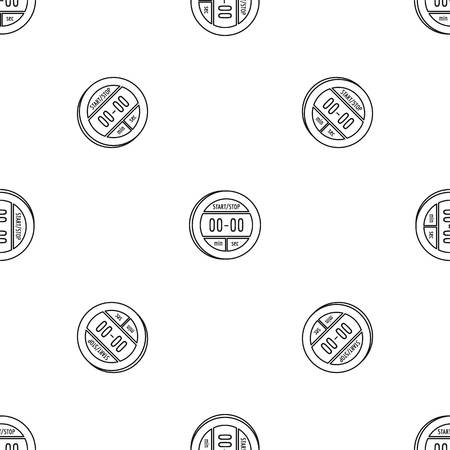 Digital stopwatch icon. Outline illustration of digital stopwatch vector icon for web design isolated on white background