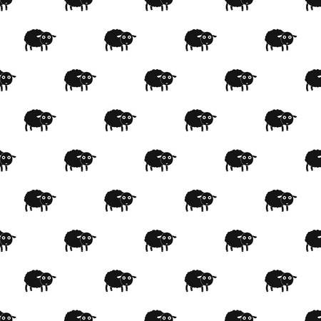 Cute sheep pattern seamless vector repeat geometric for any web design