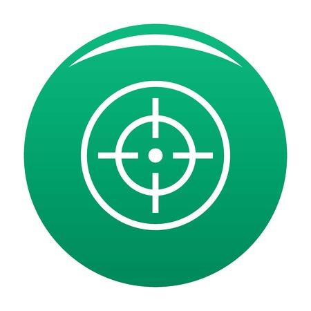Telescope icon vector green