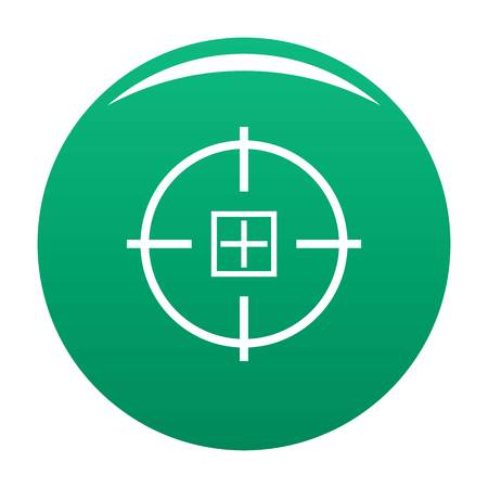 Optical mission icon vector green Illustration