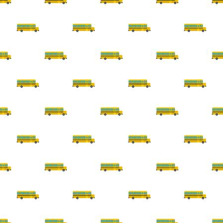 Side of school bus pattern seamless vector repeat for any web design