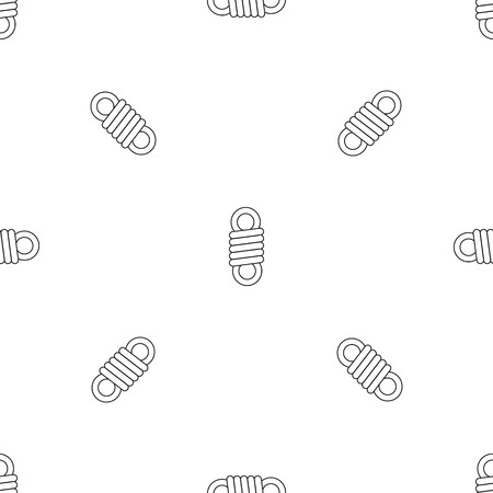 Double spring coil pattern seamless vector repeat geometric for any web design