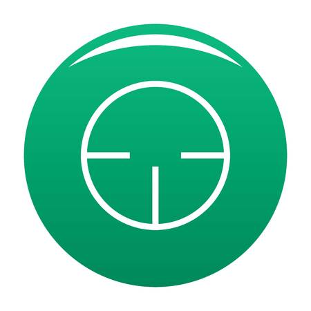Radar detector icon. Simple illustration of radar detector vector icon for any design green
