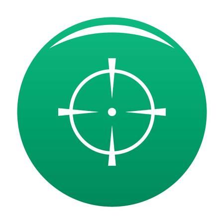 Radar screen icon vector green