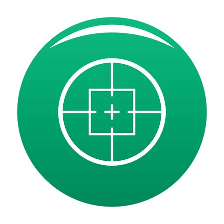 Aiming device icon vector green Illustration