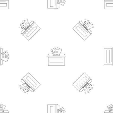 Ballot box pattern seamless vector repeat geometric for any web design