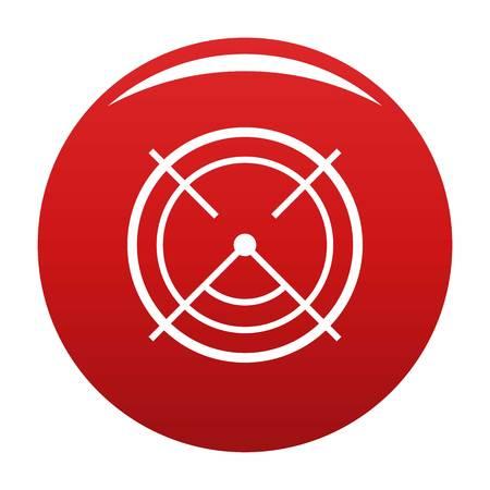 Aim radar icon. Simple illustration of aim radar vector icon for any design red Illustration