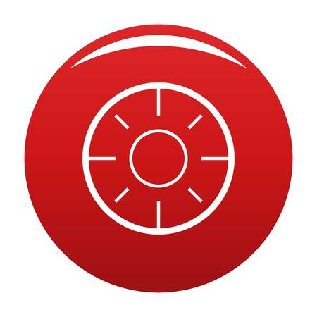 Backsight icon. Simple illustration of backsight vector icon for any design red Illustration