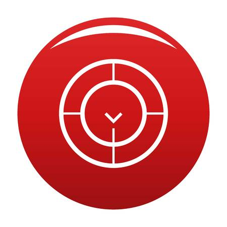 Check of radar icon. Simple illustration of check of radar vector icon for any design red