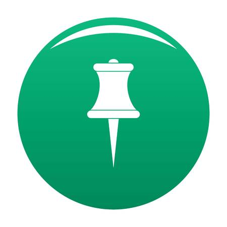 Sharp pin icon in a  green button