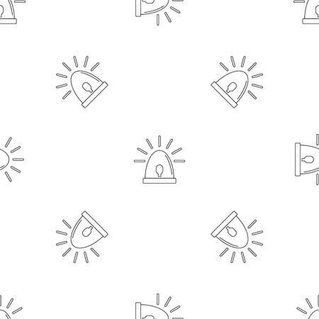 Light sirena icon, outline style