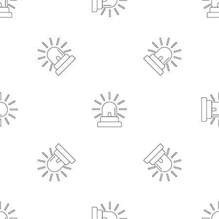 Siren icon, outline style