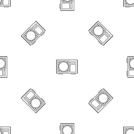 Outdoor conditioner radiator icon, outline style