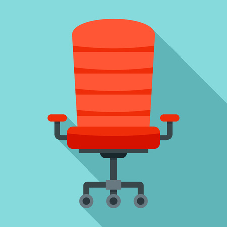 Modern desk chair icon. Flat illustration of modern desk chair vector icon for web design