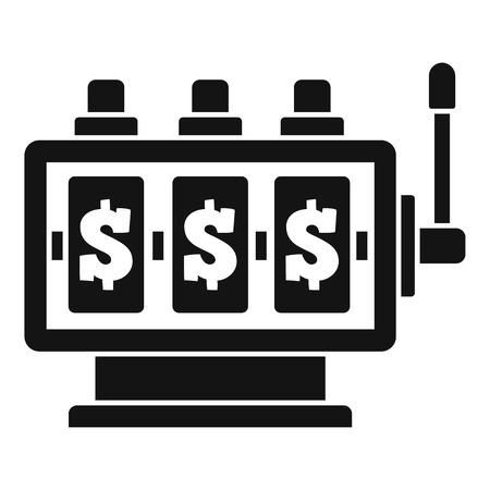 Fortune slot machine icon. Simple illustration of fortune slot machine vector icon for web design isolated on white background