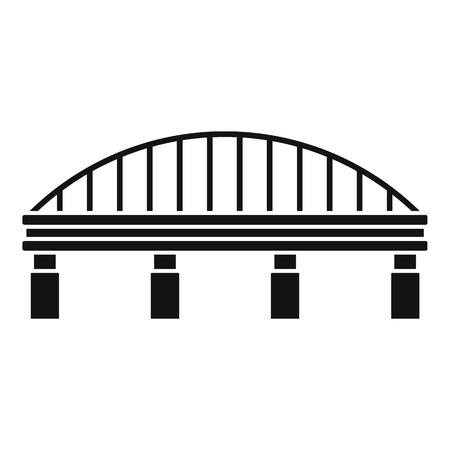 Safe bridge icon, simple style