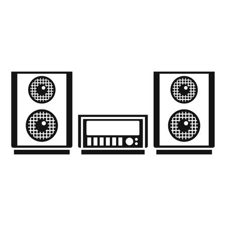 Digital stereo system icon. Simple illustration of digital stereo system vector icon for web design isolated on white background Vektorgrafik