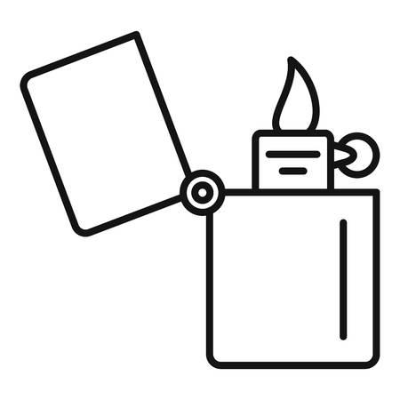 Kerosene lighter icon. Outline kerosene lighter vector icon for web design isolated on white background Иллюстрация