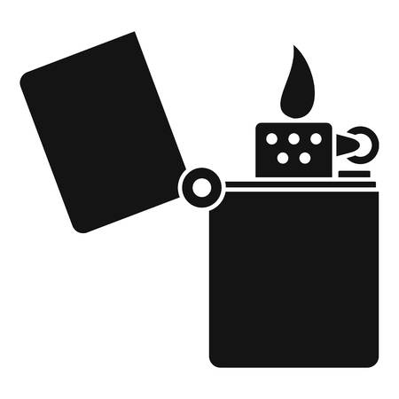 Kerosene lighter icon. Simple illustration of kerosene lighter vector icon for web design isolated on white background