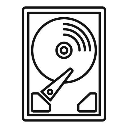 Server hard disk icon. Outline server hard disk vector icon for web design isolated on white background