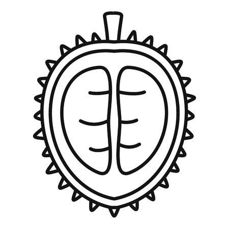 Durian icon, outline style Ilustração