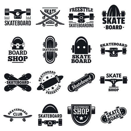 Skateboard  set, simple style