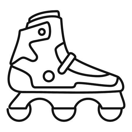 Indoor inline skates icon. Outline indoor inline skates vector icon for web design isolated on white background Illustration