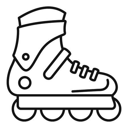 Icône de patins à roues alignées Pro. Contours pro patins à roues alignées icône vecteur pour la conception web isolé sur fond blanc Vecteurs