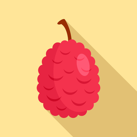 Lychees icon. Flat illustration of lychees vector icon for web design