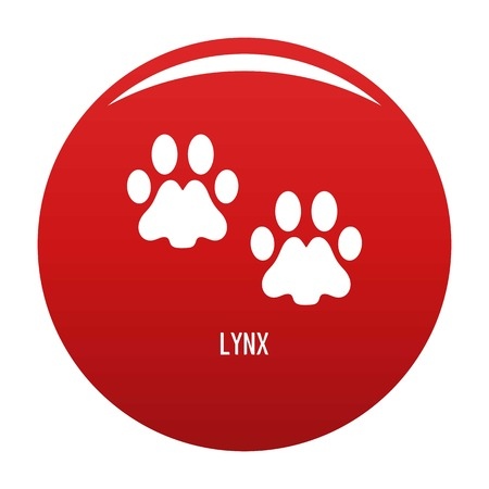 Lynx step icon vector red