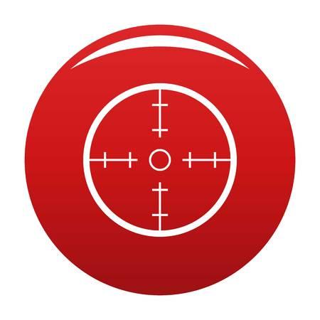 Radar icon vector red