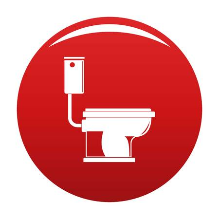 Toilet icon vector red