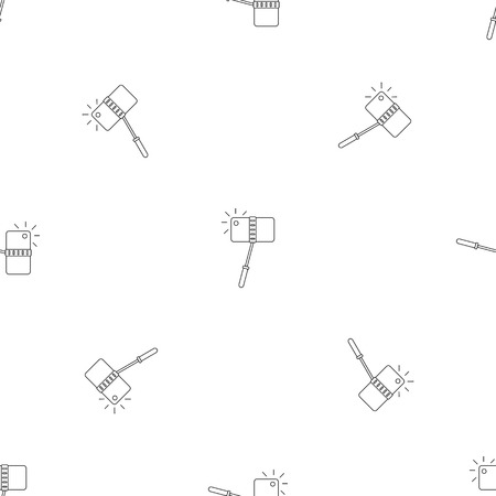 Take photo monopod pattern seamless vector repeat geometric for any web design  イラスト・ベクター素材