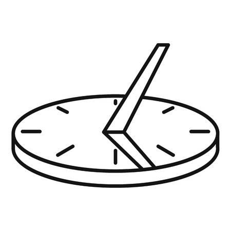 Icône de cadran solaire antique, style de contour