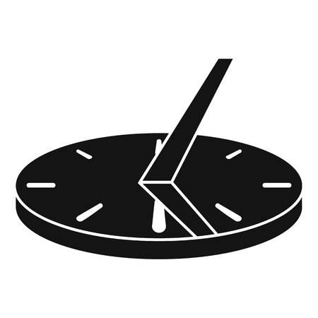 Icône de cadran solaire antique, style simple