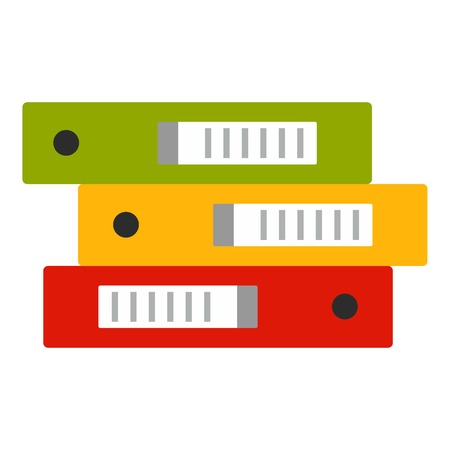 Office folder stack icon. Flat illustration of office folder stack vector icon for web design