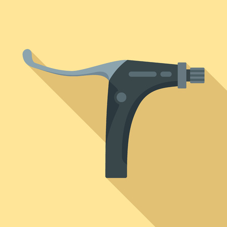 Bike brake clamp icon. Flat illustration of bike brake clamp vector icon for web design