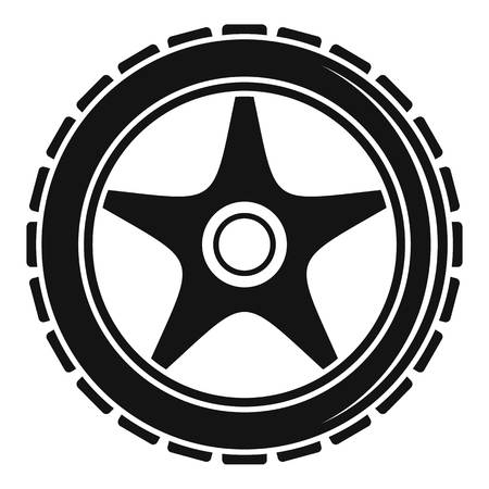 Bike wheel icon. Simple illustration of bike wheel vector icon for web design isolated on white background