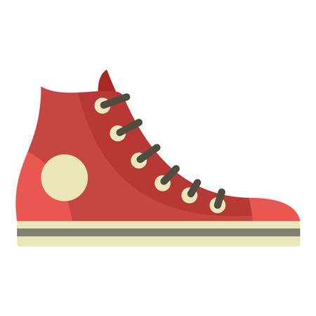Retro sneaker icon. Flat illustration of retro sneaker vector icon for web design