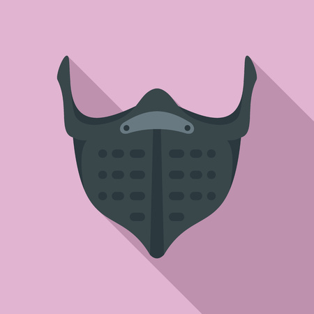 Bike mouth protect icon. Flat illustration of bike mouth protect vector icon for web design