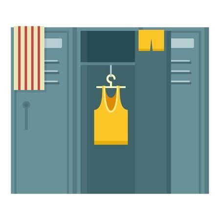 Sport dressing room icon. Flat illustration of sport dressing room vector icon for web design