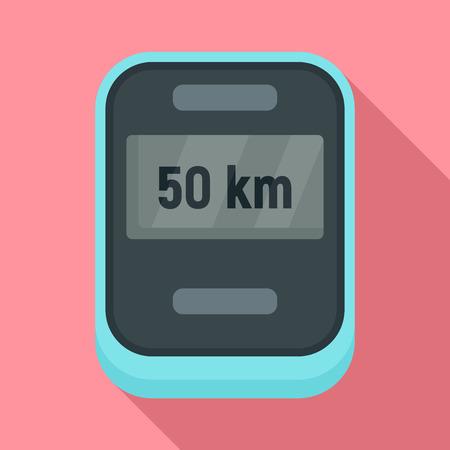 Bike speedometer icon. Flat illustration of bike speedometer vector icon for web design