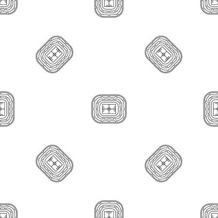 Top view stadium pattern seamless vector