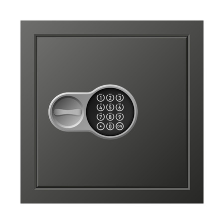 Digital safe icon. Realistic illustration of digital safe vector icon for web design isolated on white background