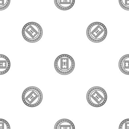 Tennis arena pattern seamless vector