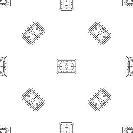 Top soccer field pattern seamless vector repeat geometric for any web design Standard-Bild - 125305071