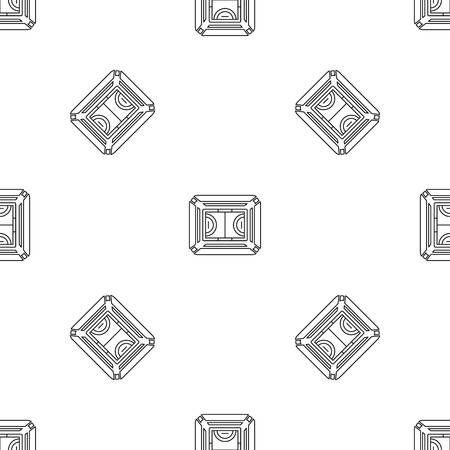 Top view sport field pattern seamless vector repeat geometric for any web design