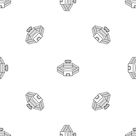Baseball stadium pattern seamless vector repeat geometric for any web design