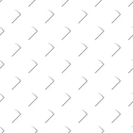 Scythe icon. Flat illustration of scythe vector icon for web design Ilustração